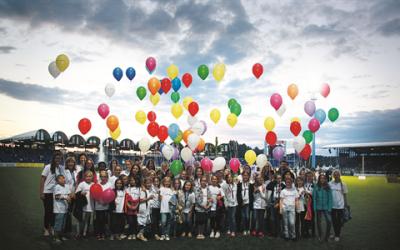 Childhood-Kinder bei der Eröffnungsfeier von CHIO Aachen