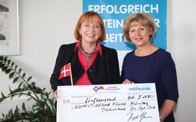 Großzügige Spende von Hofmann Personal in Nürnberg
