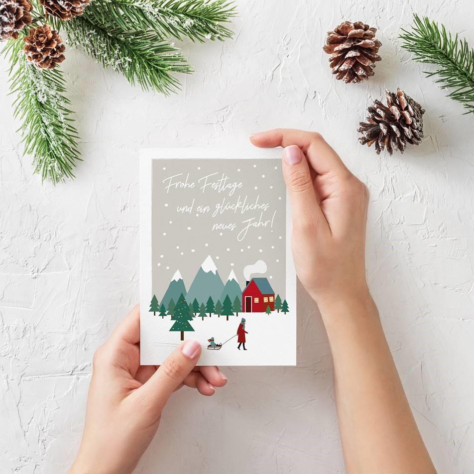 Weihnachtskarten Deutschland.Weihnachtskarten Für Unternehmen Childhood Deutschland